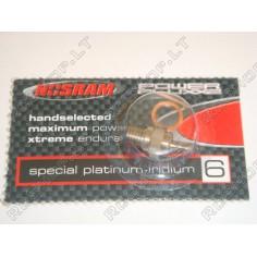 Nosram R6 Pluxx2 Platinum-Iridium žvakė vidaus degimo varikliams (Cold)