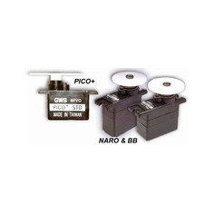 GWS Naro Max BB 14g 1.8kg 0.15s mikro servo mechanizmas su guoliais