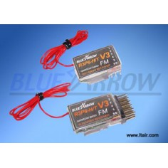 Blue Arrow R3P6 V3 35Mhz mini imtuvas JR/Futaba
