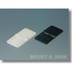 MP-JET plastikinis lankstas 16x31mm su metaline ašimi (juodas), 10vnt.
