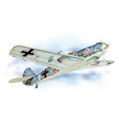 Messerschmitt historic plane kit lazer cut model