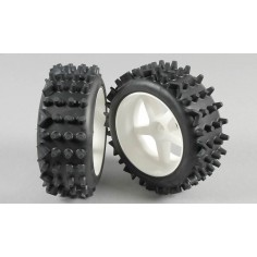 Super-grip Knobbed tires M glued, 2pcs.