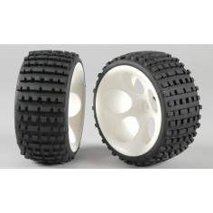 Baja tires M wide glued, 2pcs.