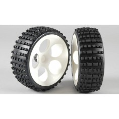 Baja tires S narrow glued, 2pcs.