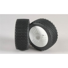 Mini Pin H / OR tires, Leo wheel white, glued, 2pcs.