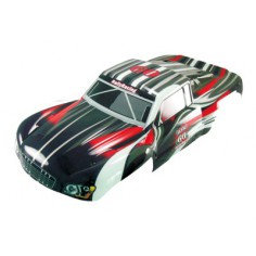 Car body short course truck 1:5 black-red