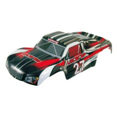 Car body short course truck 1:8 black-red
