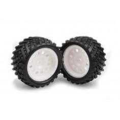 White Rim & Tire Complete (86015w+86016) 2p