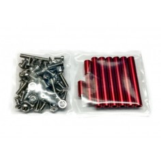 Screws, nuts and spacers for the BEE245 (red)