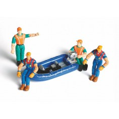 Dinghy with figures Scale 1:18