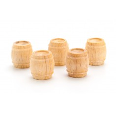 Wooden Barrel 15x17mm (5 pcs)