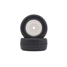 Short Course White Front Tires&Rims 2P