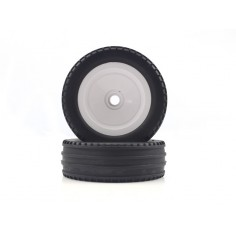 Buggy White Front Tires&Rims 2P