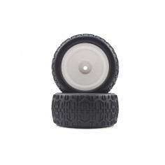 Buggy White Rear Tires&Rims 2P