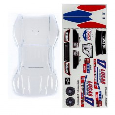 SC28 Body, clear, with Lucas Oil decals