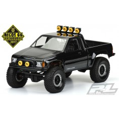 "1985 Toyota HiLux SR5 Clear Body (Cab + Bed) for 12.3"" (313mm) Wheelbase Scale Crawlers"