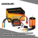 GoolRC 60A + 3650 4-polių KV4300 bešepetėlinė sistema 1:10, 1:12 mąstelio auto modeliams