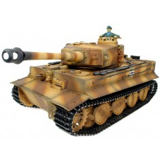 German Tiger I ADVANCED 1:16 mastelio tanko modelis RTR, garsas + dūmai + metal tuning