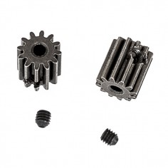 Motor pinion gears 12T + set screws 3x3mm (2P)