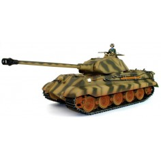 German King Tiger ADVANCED 1:16 mastelio tanko modelis 2.4Ghz RTR, garsas + dūmai + metal tuning