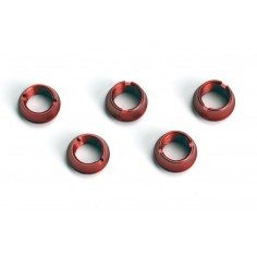 Trim nuts for hand transmitters, 3x long and 2x short, red