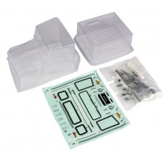 CR12 Toyota FJ45 Body with Accessories, clear