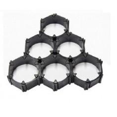 Li-Ion 18650 celių šešiakampis laikiklis x6, kiekinės nuolaidos