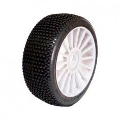 RICKY 1/8 OFF-ROAD SPORT PRE-MOUNTED ON WHITE WHEEL (2PCS)
