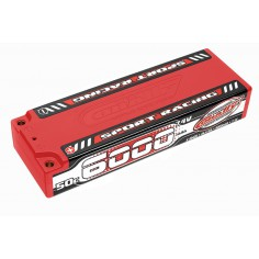 Sport Racing 50C LiPo Battery - 6000mAh - 7.4V - Stick 2S - 4mm Bullit
