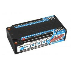 X-Celerated 100C LiPo Battery - 5000 mAh - 7.4V - Stick 2S - 4mm Bullit