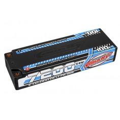 X-Celerated 100C LiPo Battery - 7200 mAh - 7.4V - Stick 2S - 4mm Bullit