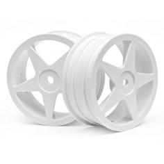 Ultra 5 wheel white (2,2in/60x26mm/2pcs)