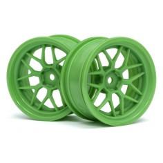 TECH 7 WHEEL GREEN 52X26X+6MM OFFSET (2PCS)