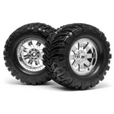 Mounted super mudders tyre 155x85mm/2pcs/savage
