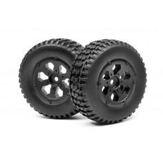 Complete wheel, 1:10 SC/DT (2pcs)