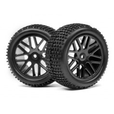 Complete wheel, 1:10 Buggy Rear (2pcs)