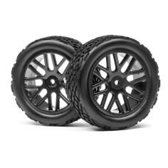 Complete wheel, 1:10 RX Rallycross (2pcs)
