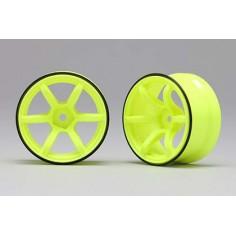 Racing Performer Drift Wheel 6 spoke 01 (6mm Offset yellow 2pcs)