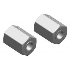 Wheel Hex Adapter - Front - Aluminum - 2 pcs