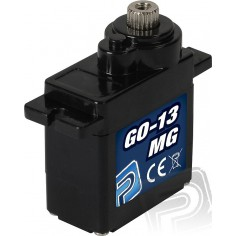 GO-13MG 17g 2.5kg 0.12s greitas mini servo mechanizmas su metaliniais dantračiais