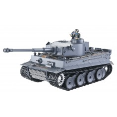 German Tiger I 1:16 mastelio rankomis dažytas tanko modelis 2.4GHZ RTR, garsas + dūmai