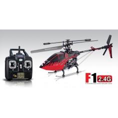 SYMA F1 460mm, 2.4Ghz 4-kanalų vieno rotoriaus sraigtasparnio modelis su giroskopu