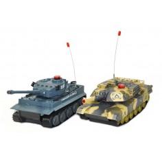 UF Tiger + Abrams tankų modelių komplektas 1:30 RTR