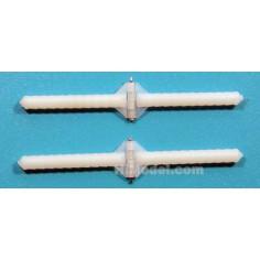 Lankstai plastikiniai apvalūs su ašele D2.5×W8×L33mm, 10vnt.