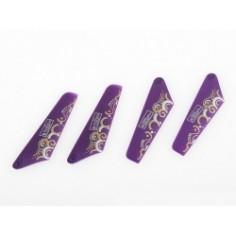 NanoCopter atsarginės mentės (violetinės)