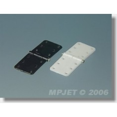 MP-JET plastikinis lankstas 11x28mm su metaline ašimi, 10vnt.