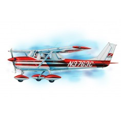 Cessna 150 plane kit lazer cut model