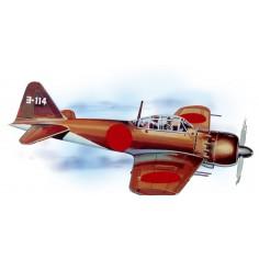 Mitsubishi WW II zero laser cut model
