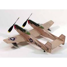 """17-1/2"""" wingspan F-82 Twin Mustang"""