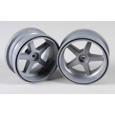 Wheel 1:6 silver, 2pcs.